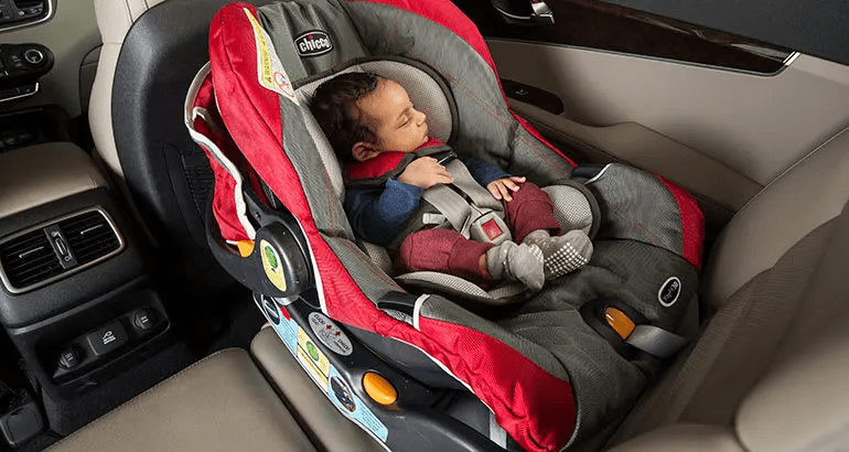 baby in a infant car seat