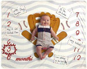 Homegician-Baby-Monthly-Milestone-Blanket-Baseball