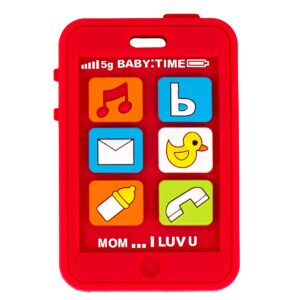 Silli-Chews-Red-Baby-Teether-Cell-Phone