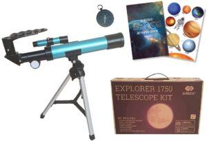 Qurious Space Kid's Explorer Telescope Gift Kit
