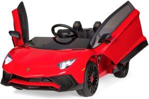 12V Ride on Lamborghini Aventador SV Sports Car Toy