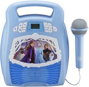 eKids Frozen 2 Bluetooth Portable MP3 Karaoke Machine Player