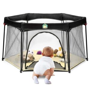 BABYSEATER Portable Playard Play Pen with Carrying Case