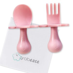 GRABEASE First Self Feed Baby Utensils