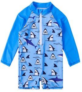 uideazone Baby Toddler Boys Girls Zipper Rash Guard Swimsuit UPF 50+