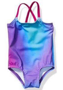 Amazon Essentials Girls' Infant One-Piece Swimsuits