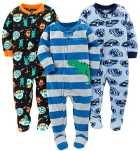 Loose Fit Fleece Footed Pajamas