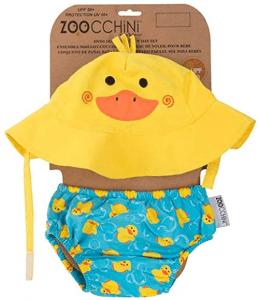 ZOOCCHINI UPF 50+ Baby Sun Hat & Swim Diaper Set – Polyester