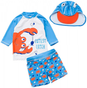 Baby Toddler Boys Two Pieces Swimsuit Set