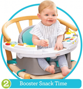 Infantino Music & Lights 3-in-1 Discovery Seat and Booster
