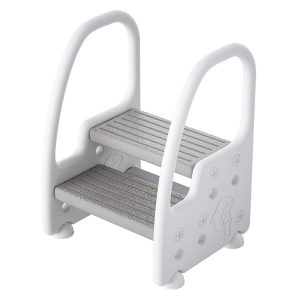 Height Adjustable Two Step Standing Stool