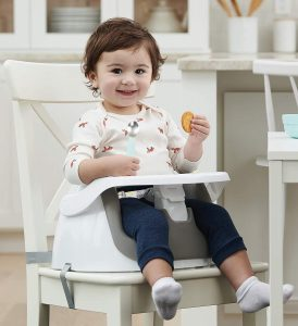 Regalo 2-in-1 Booster Seat and Grow with Me Floor Seat with Removable Feeding Tray