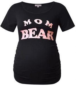 Bhome Maternity Shirt Short Sleeve Tshirt