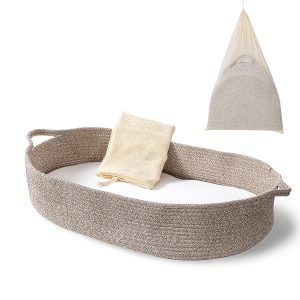 Ecoade Moses Basket Changing Table Topper And Thick Foam Pad