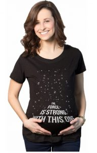 Maternity Force is Strong Funny Pregnancy T Shirt