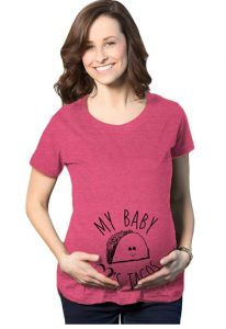 Maternity My Baby Loves Tacos Funny T Shirt