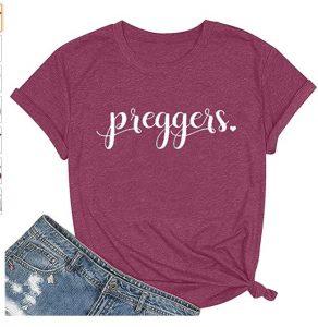 Maternity T Shirts Womens Preggers Shirt
