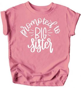Olive Loves Apple Promoted to Big Sister Colorful Announcement T-Shirt