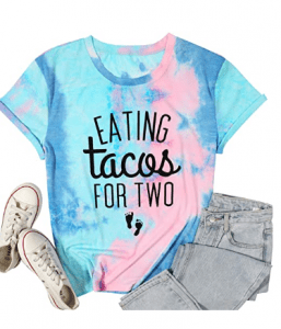 Eating Tacos for Two Maternity Shirt