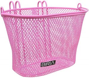 BIRIA Basket with Hooks Pink, Front, Removable